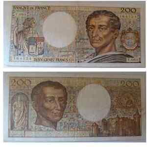 billet de 200 francs de france de 1989en bon état - France - Valeur faciale: 200 Francs - France
