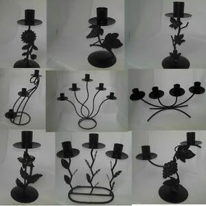 Black-ironwork-candle-holders-candelabras-multiple-designs-availiable