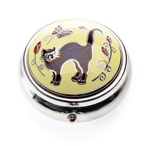 SUPERB-ENAMELLED-BLACK-CAT-PILLBOX-IN-BOX