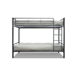 SILVER-METAL-TWIN-OVER-BUNK-BED-CONTEMPORARY-STEEL-DORM