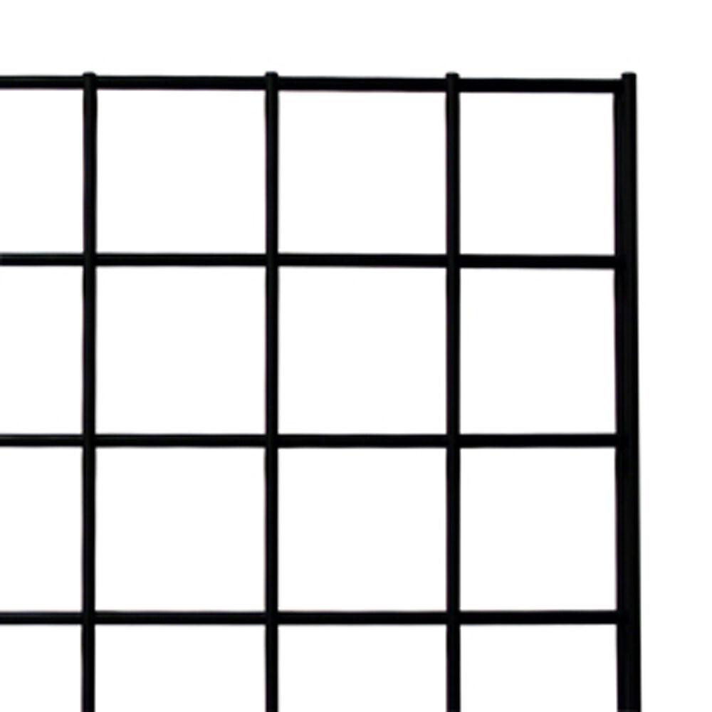 Black Gridwall Panel 2' X 6' Lot Of 6 Lot Of 24 Wall Brackets 100 12 Hooks