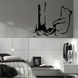 Large banksy pooh bear trap bedroom wall art sticker transfer vinyl decal giant ebay - Trap decor ...
