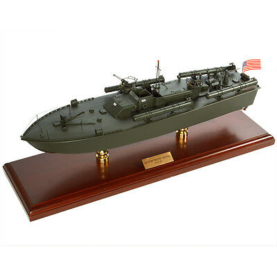 US Navy PT-109 John F Kennedy Desk Top Display 1/40 Torpedo Boat Ship WWII Model
