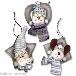 6x-Christmas-Cute-Character-4-Soft-Plush-Hanging-Tree-Ornaments-Decorations