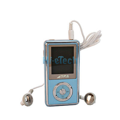 New 2GB 2G MP3 MP4 Player with Stereo Speaker & FM Radio Light Blue  on Rummage