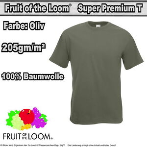 3x  Fruit of the Loom SUPER PREMIUM T Herren T-Shirt  Gr. S - XXXL