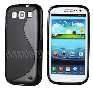 Soft-TPU-Gel-Rubber-Silicone-Case-Skin-Cover-Black-For-Samsung-Galaxy-S3-i9300
