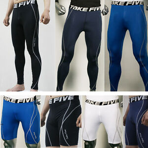 Mens-Thermal-Compression-Under-Base-Layers-Shorts-Long-Pants-Tights-Leggings