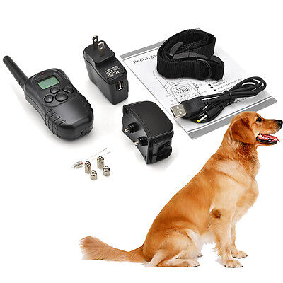 Rechargeable&Waterproof LCD Shock & Vibrate Remote Dog Training Collar for 1 Dog on Rummage