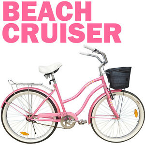 LADIES-BEACH-BIKE-VINTAGE-STYLE-RETRO-CRUISER-BICYCLE-WOMENS-PLUS-BASKET