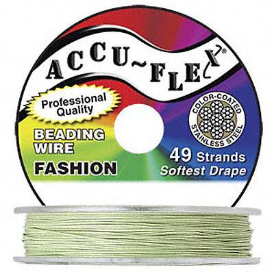 30' Spring Green Accuflex 49 Str Beading Wire .024 Accu-flex