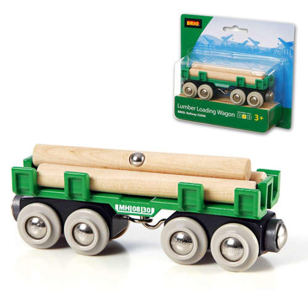 Brio Lumber Wagon Car Car Wooden Train Engine Thomas Compatible 33696