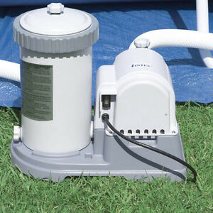 Intex 2500 gph above ground swimming pool pump amp filter for Intex pool handler