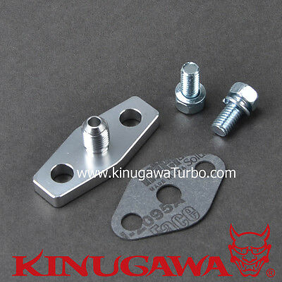 Billet Alumimum Turbo Oil Feed Flange Hitachi HT18 HT18-2S 1.5mm Restrictor