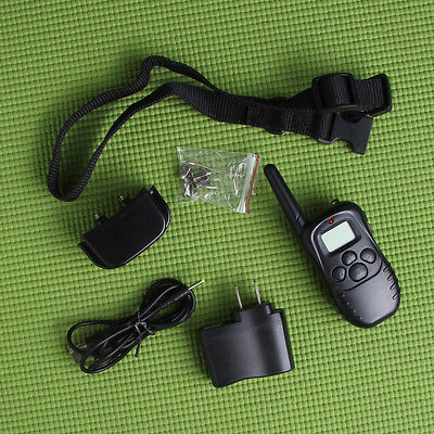 Waterproof Rechargeable 100LV Shock Vibra LED Remote Pet Dog Training Collar New on Rummage