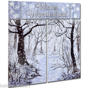Christmas Winter Wonderland Scene Setter Party Decorating Kit