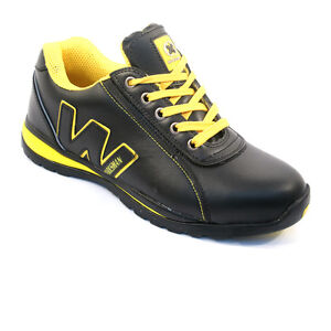 MENS SAFETY TRAINERS SHOES BOOTS WORK STEEL TOE CAP HIKER ANKLE SIZE 6-12UK NEW