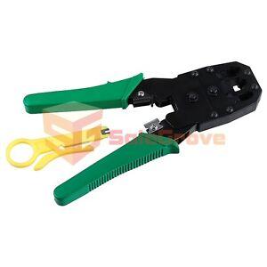 network rj45 ethernet crimping crimp tool crimper cable cutter ebay. Black Bedroom Furniture Sets. Home Design Ideas