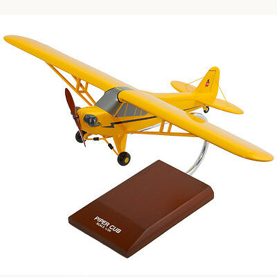 Piper J-3 Cub Desk Top Display Model Private 1/24 Aircraft Plane Airplane Mc