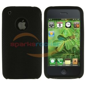Black Silicon Gel Soft Silicone Case Cover Skin for iPhone 3G 3GS 16GB 8/16/32GB