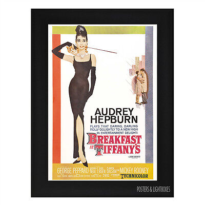 BREAKFAST AT TIFFANYS Ref 01 Framed Film Movie Poster A4 Black Frame