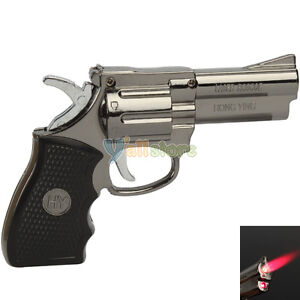 Pistol Style Windproof Refillable Butane Gas Jet Flame Torch Cigarette Lighter