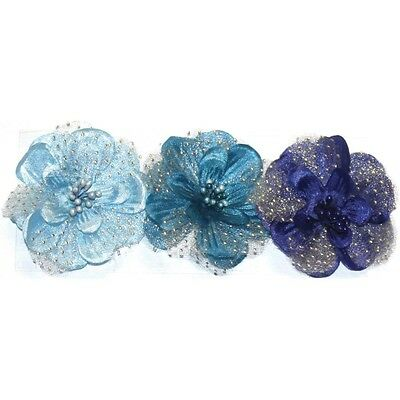 Fab Scraps Addictive Scrapping Goodies silk Flowers In Shades Of Blue