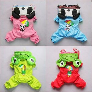 Adorable-For-Dog-Clothes-Pet-Rainwear-Coat-Costumes-Jumpsuit-NEW-Free-Shipping