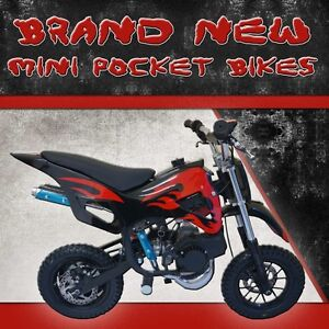 49CC MINI DIRT BIKE POCKET ROCKET BIKE PEE WEE ATV1 QUAD MOTOR BIKE MOTORBIKE