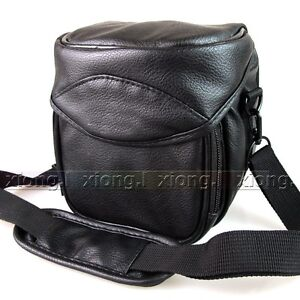 Digital Leather Camera Case Bag for Canon Powershot SX510 SX50 HS SX500 IS G1 X