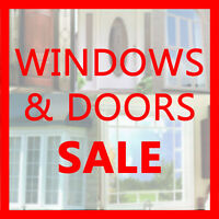 WINDOWS & DOORS CLEARANCE SALE - UP TO 40% OFF - (416) 717-2730