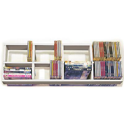Iris - doppio da parete CD/DVD/BLU RAY Scaffale per magazzinaggio - Bianco