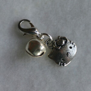 Cute Hello Kitty + Bell Clip On Cat collar Charm Pets