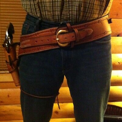 Western Leather Gun Holster& Belt Cowboy single action CUSTOM BUILT TO YOU sass