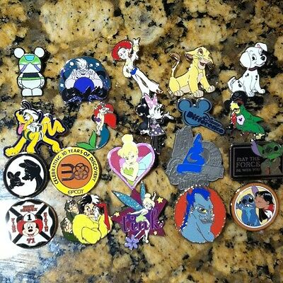 Lot Of 50 Disney Trading Pins Hidden Mickey, Cast Lanyard Series, Vinylmation on Rummage