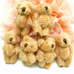 SOFT-fur-teddy-bear-doll-charms-pendants-Brown-45x30mm-5PCS-3-8-65