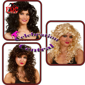 LONG-CURLY-WIG-WITH-FRINGE-BROWN-BLACK-BLONDE-FANCY-DRESS