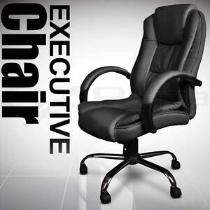 New Executive PU Leather Office Computer Chair Black 27