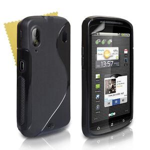 Accessories For The ZTE Skate V960 Black Silicone Gel Case Cover & Screen Film
