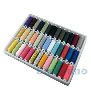 39 x200 Yard/Reel Mixed Colors Spools Polyester Sewing Thread For Hand & Machine