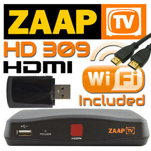ZaapTV IPTV HD 309 Arabic Turkish Greek Channels Receiver Zaap TV w/ WiFi Dongle