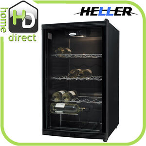New HELLER 40 BOTTLE WINE COOLER FRIDGE REFRIGERATOR STORAGE CHILLER