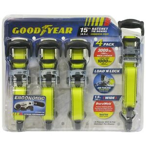 New Goodyear Heavy Duty Set of 4 Snap-On 1-1/2