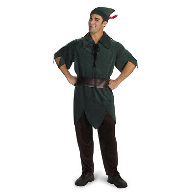 Adult XL Movie Story Book Peter Pan Classic Lost Boys Neverland Leader Costume (Peter Pan Costume Man)