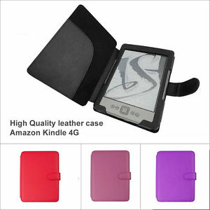 NEW-FLIP-LEATHER-CASE-COVER-PROTECTOR-WALLET-FOR-AMAZON-KINDLE-4-4G