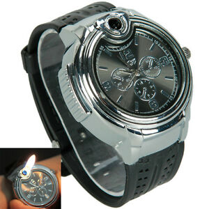 New Novelty Watch Refillable Butane Gas Cigarette Cigar Lighter