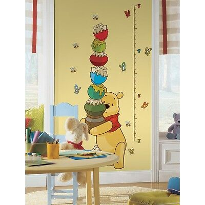 New WINNIE THE POOH GROWTH CHART WALL DECALS Baby Nursery & Kids Room Stickers