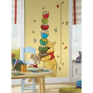 New-WINNIE-THE-POOH-GROWTH-CHART-WALL-DECALS-Stickers
