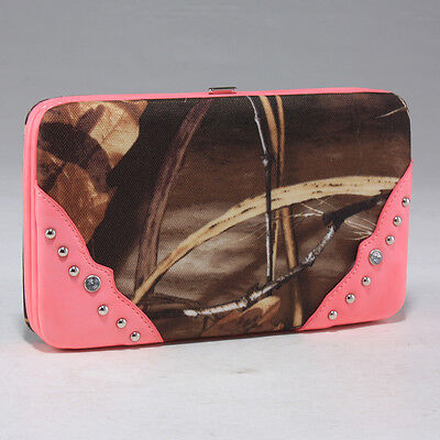 Realtree Camo Western Country Girl Thick Frame Wallet Pink Trim Max4
