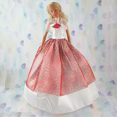 New Handmade Party Dress Barbie Clothes Gown For Barbie Doll #468 on Rummage
